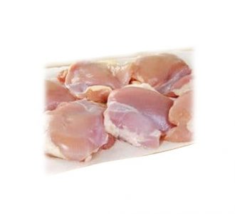 Green Chicken Thigh with bone (skinless) Per Kg